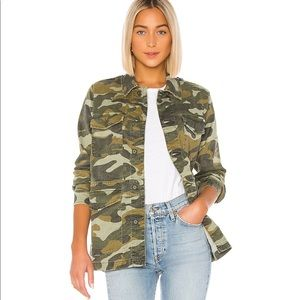 MOTHER The Loose Veteran Camouflaged Jacket